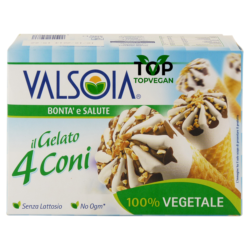 4 coni gelato vegan valsoia