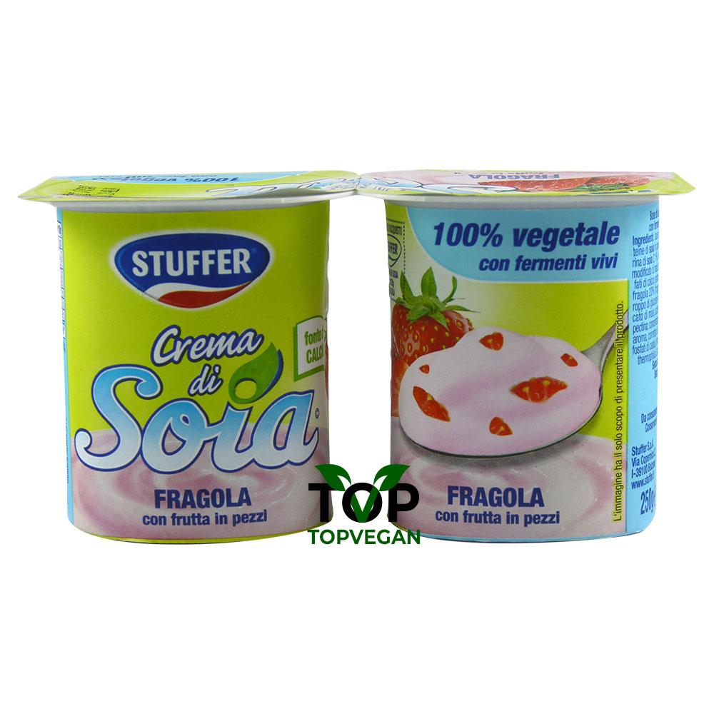 stuffer yogurt vegano crema di soia alla Fragola
