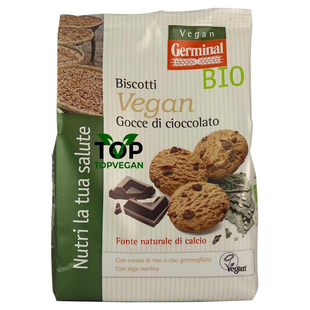 Biscotti vegan gocce di cioccolato germinal