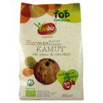 Biscotti vegani al kamut con gocce di cioccolato