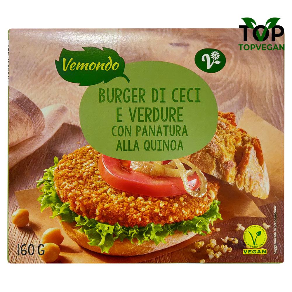 burger vegano ceci verdura vemondo