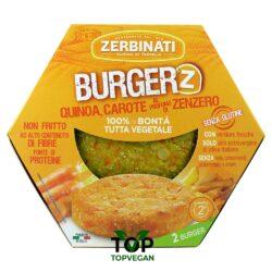 Burger vegetali quinoa carote profumo zenzero