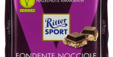 cioccolato fondente vegano ritter nocciole amaranto