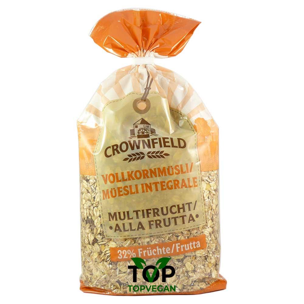 muesli integrale alla frutta crownfiield