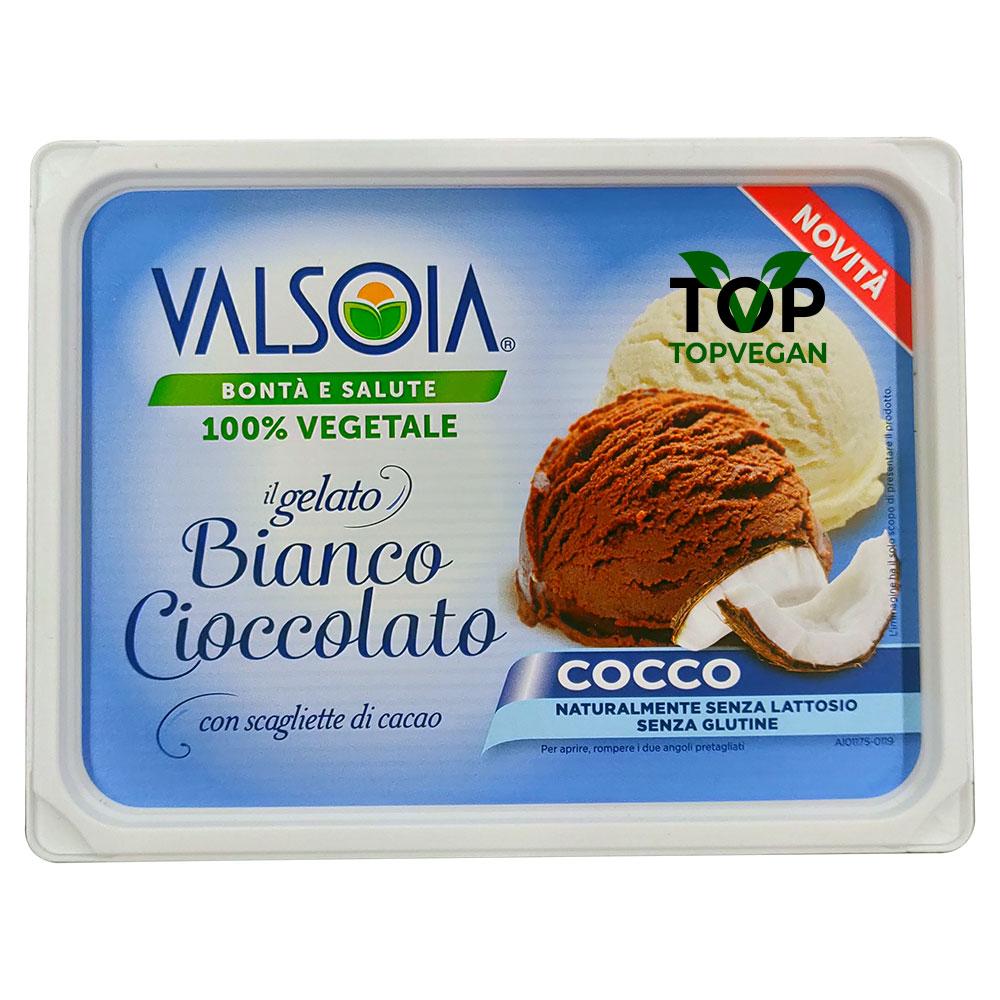 gelat o vegano cioccolato cocco valsoia