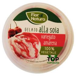gelato vegetale variegato amarena fior natura