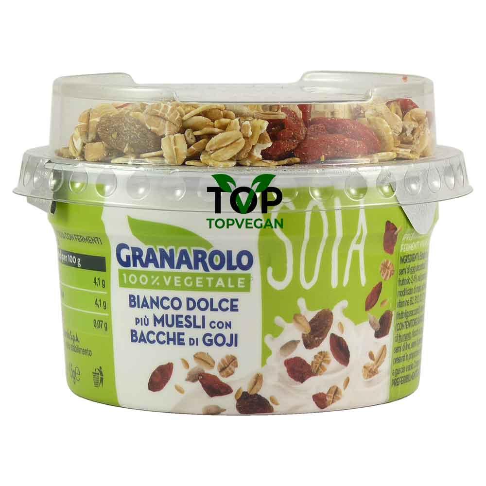 yogurt di soia con muesli e bacche di goji granarolo