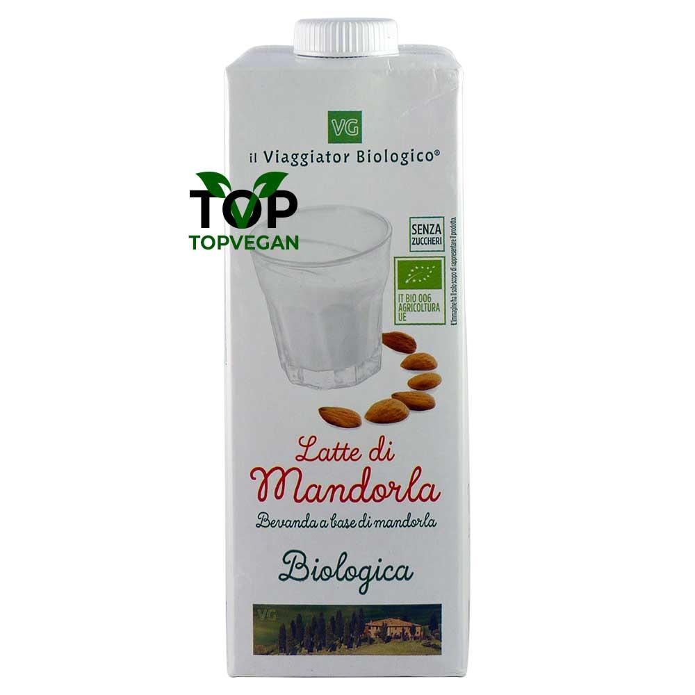 latte di mandorla senza zuccheri il viaggiator biologico