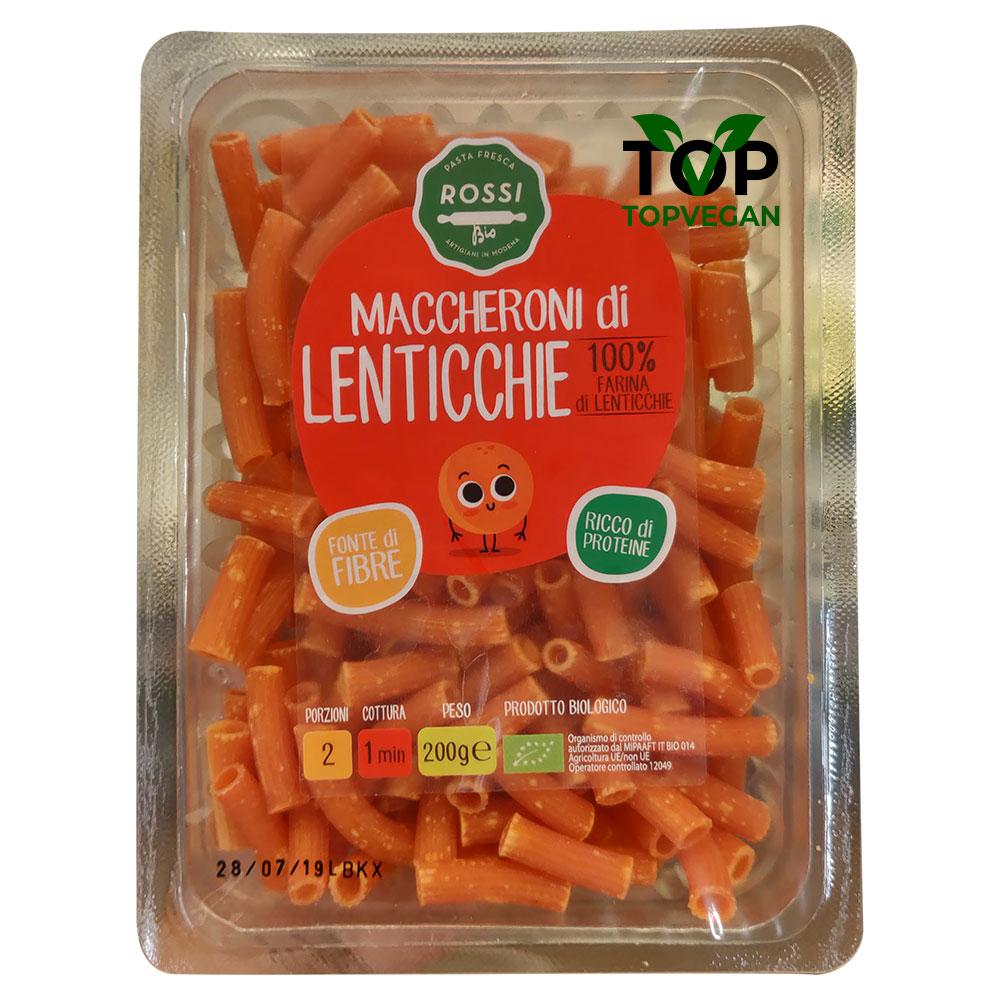 maccheroni vegan lenticchie di Rossi