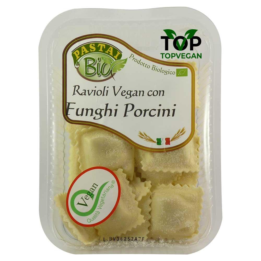 Pastai bio ravioli vegan funghi porcini