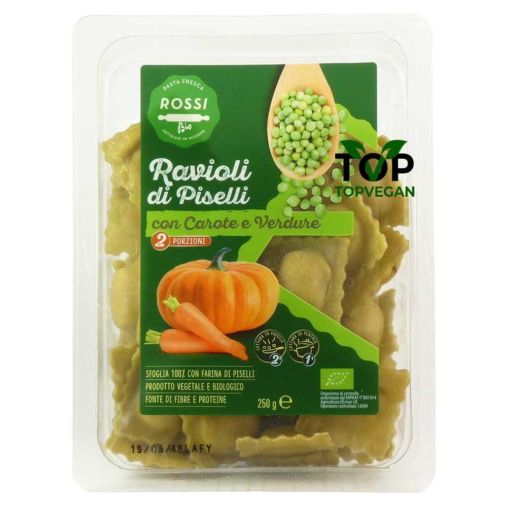 ravioli di piselli zucca e carote rossi