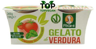 gelato di verdura pomodoro e fragola righi