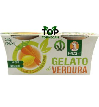 gelato di verdura carota e limone righi
