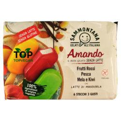 gelato vegano sammontana frutti rossi pesca mela kiwi