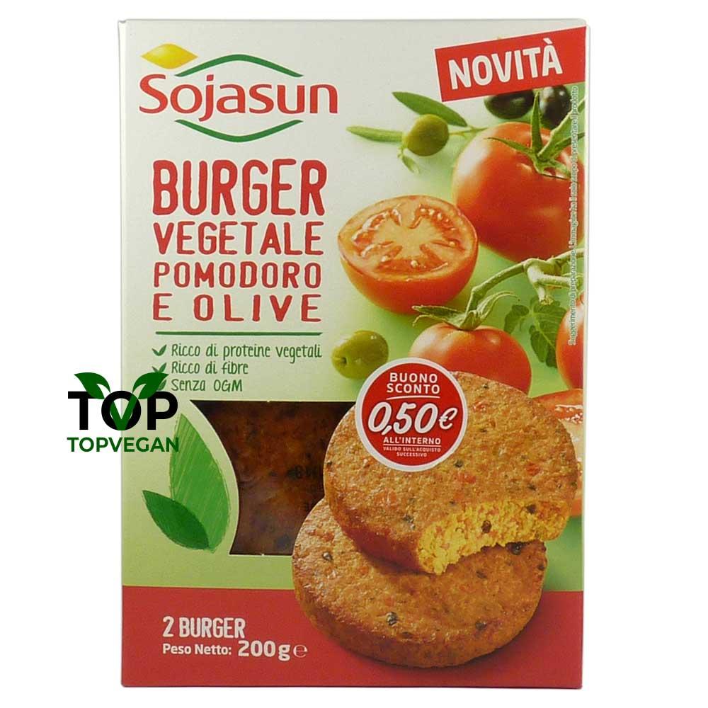 burger vegetale vegano pomodoro olive sojasun