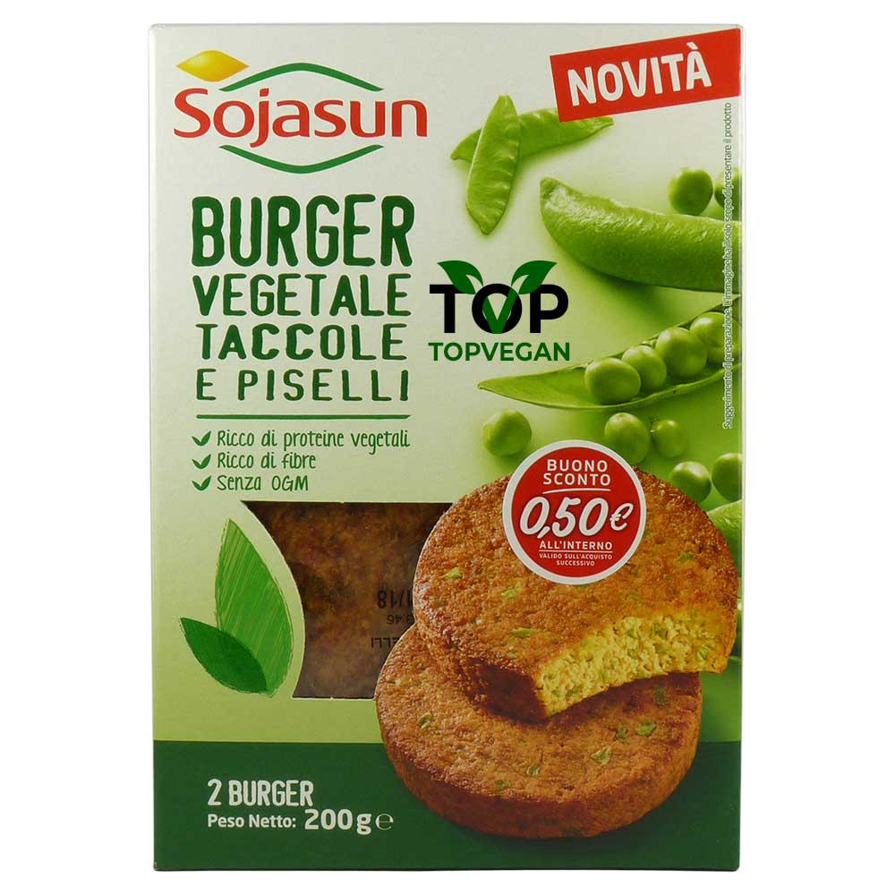 burger vegetale taccole piselli sojasun