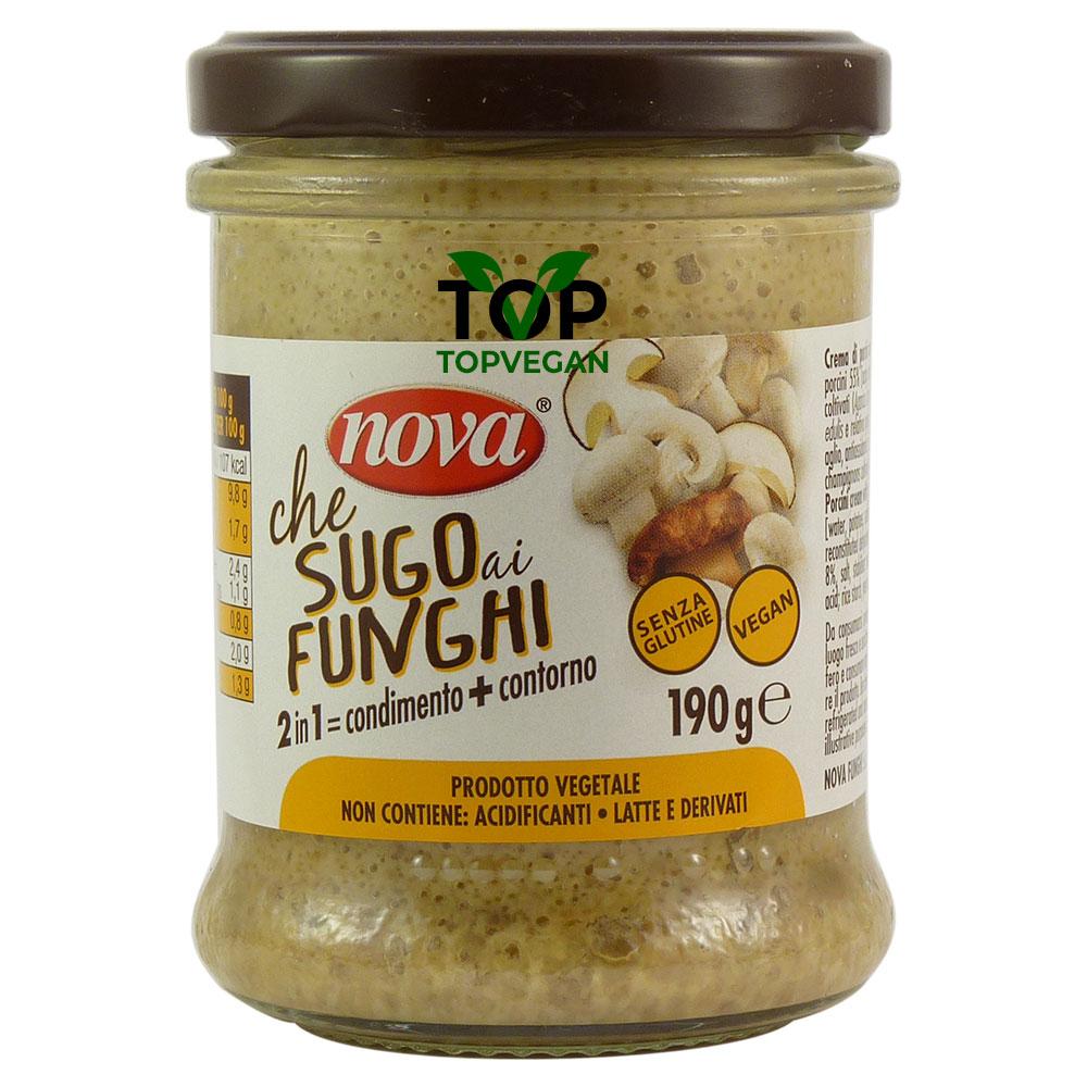 sugo ai funghi nova vegano