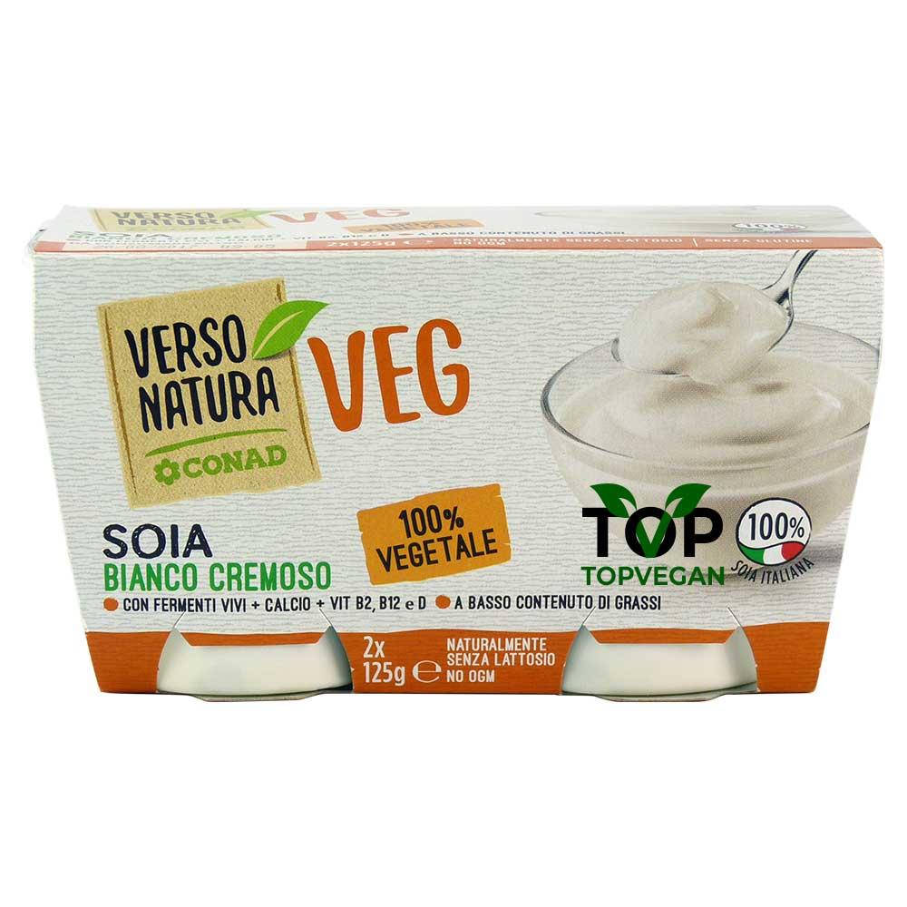 yogurt vegano di soia verso natura