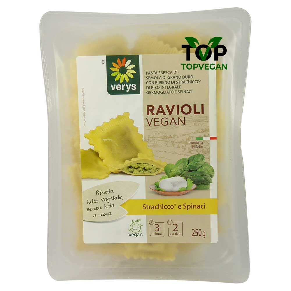 Ravioli vegan di strachicco e spinaci - verys