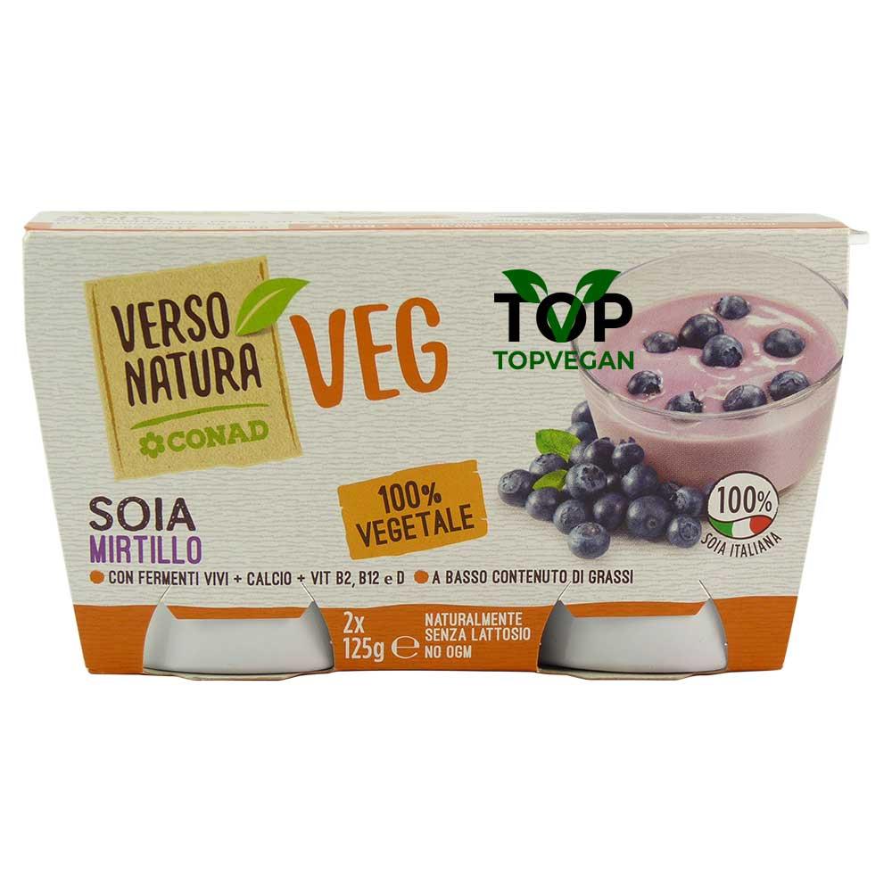 yogurt di soia ai mirtilli verso natura